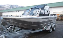 STANDARD FEATURES Yamaha F150XA w/Pre-rig/Propeller/Installation, Gateway 5200 lb Capacity Galvanized Tandem Axle Bunk Trailer, Battery Holder and Heavy Duty Marine Battery, Diamond Tread Bow Step w/Storage, Electric Horn, Full Dash Instrumentation, Fully