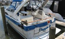 1988 Bayliner Ciera 2655 This boat is in excellent condition for its age. It is very clean and well cared for. It includes many options, fully loaded. Also includes a drop-in air conditioning system.