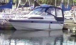 250 Hours on Rebuilt Engine Immaculate Condition. Standard Features:...Alcohol/Electric Stove, Dual Volt fridge, Pressurized Hot Water, Shower. Pump out Marine head, V-Berth, Dinette, Shorepower, , Battery Charger, Full Camper Top, Trim Tabs, VHF Radio,