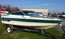 1990 cutter w/ 70 HP Evinrude VRO(2stroke) Bow and cockpit covers Am/fm radio Back to back seats Trailer Consignment sale Specifications Length Overall (LOA): 188 Features
