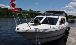 Bayliner handles like a dream, designed for big water, FISH OR CRUISE....excellent FISHING vessel or for small FAMILY OF 4 . * new Humminbird 788 ci. depth sounder/GPS , dual batteries,anchor,100 foot line,full camper top(2 years old) , drop down