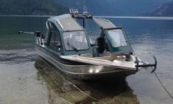 2007 Thunder Jet 22ft Rio Classic/Yukon Model -- With only 90 hours since new. Green metallic with Green and Grey matching upholstery. Color matched interior and exterior paint from Factory. 14 degree hull dead rise -- Found on Rio/Yukon only. 8 Ft. beam