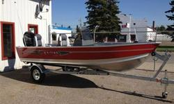 trailer included, steering console, depth finder, seats included