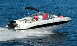 M.S.R.P., CONTACT US FOR INTERNET SAVINGS! The 234LR offers the versatility and ease of maintenance of outboard propulsion with the same roomy design as its sterndrive brother, the 235LR. The wide, sport deck design creates plenty of interior space, a