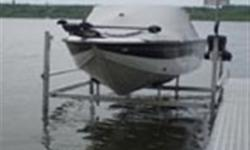 We are a Koender's boat lift dealer!!! 3000 lb, 4000 lb, and 5000 lb vertical boat lifts available. Electric winch or hand winch with wheel. Boat lifts are manufactured with an aluminum frame... call Don for more details...306-862-4755.