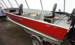We have for sale a nice used 14' package. It is a Lund 14' SSV with drop in floors. This boat is fully loaded. It was purchased last fall and due to health reasons is being sold here at Hastings Marine on consignment. The boat has a 25HP Evinrude E-tec