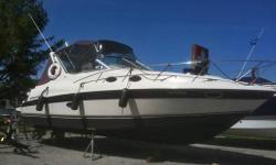 This boat has been very well maintained here at Bayview Yacht Harbour for the past three years and is in above average condition for its 1996 Model year. Complete with excellent bottom paint and with only average running hours of 900 hours.