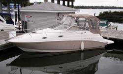 This 2003 Regal Commodore 2665 is a fresh-water, one-owner boat with only 150 hours, and was custom ordered with all options- air/heat, windlass, ext. platform, GPS/Plotter and more. Local delivery, gauranteed fresh-water history, and priced right: why