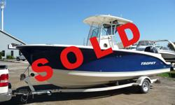 SOLD www.macdonaldmarine.com Mercury Verado 250HP, ONLY 76 HOURS. The 25' Trophy Pro has proven itself to be one of the best offshore sportfishers on the market today. Built to handle bluewater fishing, she is strong and capable of providing you with a