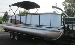 2013 LOWE PLATINUM 23 CRUISE WITH TANDEM AXLE GALVANIZED TRAILER COMES WITH - FUSION STEREO - HYDRAULIC STEERING - RATCHET STYLE MOORING COVER - XL PACKAGE, COMES WITH CENTER PONTOON, LIFTING STRAKES, AND WAVE TAMERS - UNDER WATER LIGHTING - BLACK BIMINI