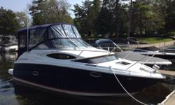 Absolutely immaculate 2007 Regal Window Express 2565 Cruiser is 27.5 feet in length . Meticulously maintained with all service records from new. This boat has always been stored indoors for winter Only 340 hours and pride of ownership shows throughout.