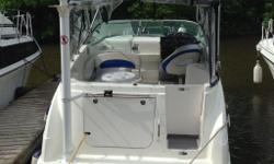 2006 Bayliner 265 (L-27',beam 8'6') fibreglass hull.5.7 litre merc cruiser I/O engine . Electronic trim tabs.Bimimi canopy with clear plastic clip down panels.Stove, fridge, microwave,stereo system with cd player ;GPS Raymarine and communication radio,