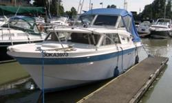 This 23' Uniflite Express Cruiser is a beloved boat looking for a new home. Current owner has had her and kept her well maintained for 20 years, she is ready to cruise the coast! Key Features: Power is Volvo 260hp/280 leg with 1800 hours Primus 2 burner
