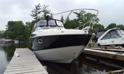 ONE OWNER SUPER CLEAN CRUISER BOAT VERY LOW HOURS MINT CONDITION LOADED EXTENDED PLATFORM AIR AND HEATING, NAVI, ALL SERVICE UP TO DATE WITH RECORD ALL AVAILABLE, READY TO USE 100% LOCATION IN MIDLAND ONTARIO. BEST SLEEP AREA AT MARINE AVAILABLE WITH