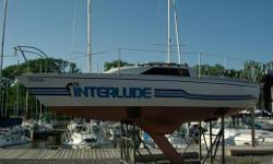 Vessel?s Name: Interlude Licence number: 28E4069 L.O.A.: 22? Beam: 8? Draft: 4.75? Builder: Canadian sails Year built: 1972 Hull, Deck Construction: HULL CONSTRUCTION TYPE: Full displacement with swing keel and spade rudder. MATERIAL: FRP (fiber