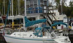 Model:  CS 34 Size:  34 Price:  $59,900 File:  3749 Details: Year:1990 LOA:33ft 6in LWL:27ft 8in Beam:11ft 3in Draft:4ft 6in Displ.:10500 lbs Colour - Hull:White Colour - Deck:White Stern Rail:Double Pulpit:Double Life Lines:Double Stripes:Teal and