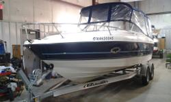 2008 Bayliner 210 Cuddy with 5.0L TKS Mercruiser I/O Extended your day with this just polished Bayliner equipped with a full double bimini full camper enclosure, full vinyl floor, helm chair and passenger sleeper seats. This boat is packaged with a 2015