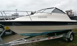 AFFORDABLE VALUE FROM HULLY GULLY19' cuddy cabin package; this boat has been looked after and is truly in excellent condition in and out! Great boat for a small family to cruise the inland lakes or great lakes with confidence. Optional Brand new aluminum