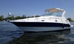 Pristine, modern and luxurious ? Quality and reliable Cruisers Yachts 28 (LOA 31) with a Wide Beam - Twin 4.3 Volvo Penta Gxi with SX Drives. Come fully loaded with Heat/Air; Windlass; Radar Arch, complete canvas packages, Snap in Carpets. Full GPS with