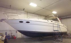 Twin Merc Horizon 8.1 engines, under water exhaust, AC and heat, generator, windlass, electronics, new snap in carpets thru out, cherry wood interior, vacu flush head system, walk in aft cabin, leather thru out, many new upgrades, low hours, survey