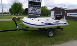 Used Mercury 310 Inflatable. Comes with 9.9 Mercury engine and Shorelander trailer. All in excellent condition. Complete Package. Reduced to $2995 + hst. See us at Davidson's. Located 2 km south of Norwich on hwy 59.