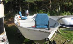 1996 Grummon 14' Deep and Wide with 1995 Yahama 20 hp 2 Stroke. Hardly used, shows like new, 2 swivel seats, rod holders and oars included as well as older but fit trailer.