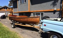 1951 dis-pro boat, trades?? needs wood repair on bow and stern located in Victoria B.C complete with oars..Coventry Victor 2 cylinder engine.. pick up trades? trade towards pickup or Grumman van shorty