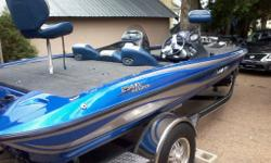 awesome bassboat, 65mph top end, c/w 2 fishfinders, 80 lb fortrex electric motor, travel cover, trailer