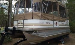 2006 Sun Party Exotic. Exterior and frame in very good condition (small dent in the rear of boat). Interior in good condition. Second owner. Boat stored at Eagle Marine (Garrison Petawawa). Full canopy (fully re-stitched last year less 2 x rips in side