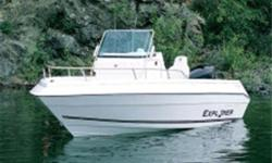 2004 CAMPION EXPLORER. 21 Foot, 6 pass, Cuddy Cabin. Porta potty. Rarely used, to owners death. like new! Winterized, Garage stored. 6 cyl Volvo penta engine. Small engine for trolling. Comes with Tandem trailer, with spare tire., $24,995 firm. Call
