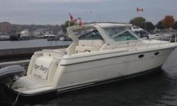 Price is in US Funds. The Tiara 3500 Express feels much larger than you might think and would compare to larger yachts thanks to its 13?9? beam an overall length close to 40?. This vessel is configured with the popular Plan-B layout where below deck you