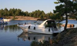 This rare centre console cruiser has been well maintained and is in excellent condition. It has all the amenities including a Koehler generator, A/C, ice maker, microwave, coffee maker,2 burner stove top and fridge. Two 5.7 L Volvo Penta engines with dual