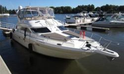 As the world�s largest manufacturer of superior quality pleasure boats, Sea Ray has out done themselves with the design and craftsmanship of this vessel. Recognized as a superbly designed 45-foot sport yacht, the Sea Ray Express Bridge 450 gives you more