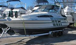 Equipment Includes: Complete camper top with screens � Cockpit Carpet � VHF Radio � Depth Sounder � Trim Tabs � Stereo � Microwave � Alcohol/Electric stove cook top � Large starboard side stand alone dinette � Easy clean fibreglass cabin liner � Cabin