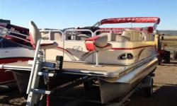 20' Bow Fish, with 70hp Yamaha. Comes with Full Camper inclosure that goes up in minutes for those rainy days on the lake! Vinyl flooring, stereo, are only a few of the options