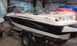 2009 Chaparral 180 SSI - Fish and Ski with Mercruiser 4.3L TKS 190hp. Bow & Cockpit Covers, Bimini Top, Motorguide W55 Trolling Motor, Sport seating with Twin Captains Chairs and Transom Bench, Ski Locker, Extended Swim Platform, Digital Depth Gauge, Tilt