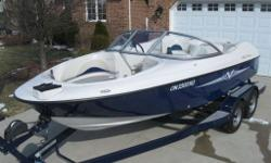 Bowrider, Fish and Ski, Runabout or just a Crusier . . . . 2009 Starcraft Fish and Ski - 8 Passenger - Very Low Hours !! Super clean immaculately maintained 8 passenger fish/ski/family boat Powered by a Mercruiser 4.3 litre 220 hp with Alpha One