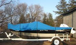 Used it only on my two holidays on the french river still like new and well taken care of must come and see
