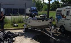17' Springbok fishing boat full-equipped. Comes with most by-law necessities. (paddles, rope, anchor, built in lights back and front, and more.) Giving away Humminbird fish and depth finder as well as down rigger and Minn Kota 5hp troller with boat. The