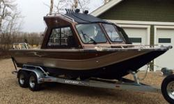 "Metallic brown - 22' plus swim platform 8'6"" beam - 6.0 L Kodiak Marine engine 360 HP - 53 hours on the boat - 9.9 Mercury Pro kicker ( approximately 90 hours on kicker) - T4 Panther Steer - EVERY OPTION AVAILABLE IS ON THIS BOAT - 2 remote spotlights on"