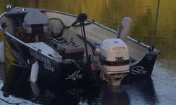 This boat is set up for any kind of fishing! I've completed redone the boat and trailer to match. I also have two different motors for the boat and depending on the price or trade will decide what motor goes with it. A 25 and 35 both work awesome.