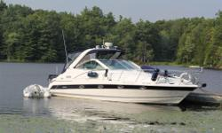 Pristine Condition, 1st Owner, Dry Stored 8 Months of the Year Bottom Paint, 8.1, Volvo Penta 8.1 GXI Twin, 425 HP, 500 Hours ELECTRONICS: Raymarine, Radar Sounder GPS Fish/Depthfinder 1 VHF Premium Stereo GPS, Fishfinder, Depthfinder, Chartplotter,
