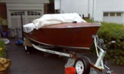 1960 Greavette Runabout 18' Mahagonny. 100 H.P.Ford Interceptor Inboard Cruise-Master Trailer One used spare engine Two additional outdrives Full tarp cover