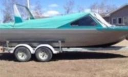 This boat is in extremely good condition with many upgraded and a brand new 350 engine- stainless impellor - stereo - wipers- fin- hydraulic trim tabs- new boards on trailer - windshield cover- steering cable / tilt steering - front glass- tinted side