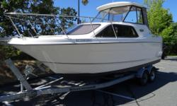 Immaculate condition. FWC Mercruiser - 350 with Bravo 2 leg (just serviced) 369 original hours. Loaded with features. AMFM/ CD player with 4 speakers, Loran 7 GPS plotter,pressure water with a new 6 gallon hot water tank, new Gel Batteries, Inverter,