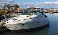 This 340 express hardtop is powered by twin 350 magnum bravo three with mercury DTS system. Options on this boat include generator two refrigerators icemaker Wood cabin floors, bow thruster, power windlass, Full camper canvas, huge extended swim platform