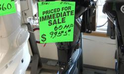 Brand New 2011 60 HP ETEC outboard motor. Incredible blow out pricing on all 2011 ETEC motors - 20% below MSRP. Hurry in, at these prices the stock won't last!