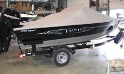 "Specifications Length Overall (LOA): 213 Beam: 94"" Approx. Wt. (lb): 1220 lbs Transom Height: 20"" / 25"" Model Name Length: 17' Min/Max HP: 75 / 125 HP Aerated Livewell w/Autotimer Aft. livewell (40"" long / 18 gallon) Bow livewell (28"" long / 12 gallon)"