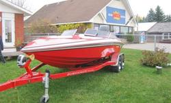 this boat is like brand new with only 14 hours, full cover,upgraded factory trailer Mercurys race engine, stereo must be seen over $60,000 new only 44,999