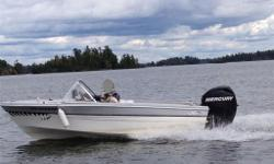 Classic hull with 2011 Merc with tilt&trim. GPS/locator, bilge pump.No trailer. Excellent kid's boat, very seaworthy. Located in Kenora